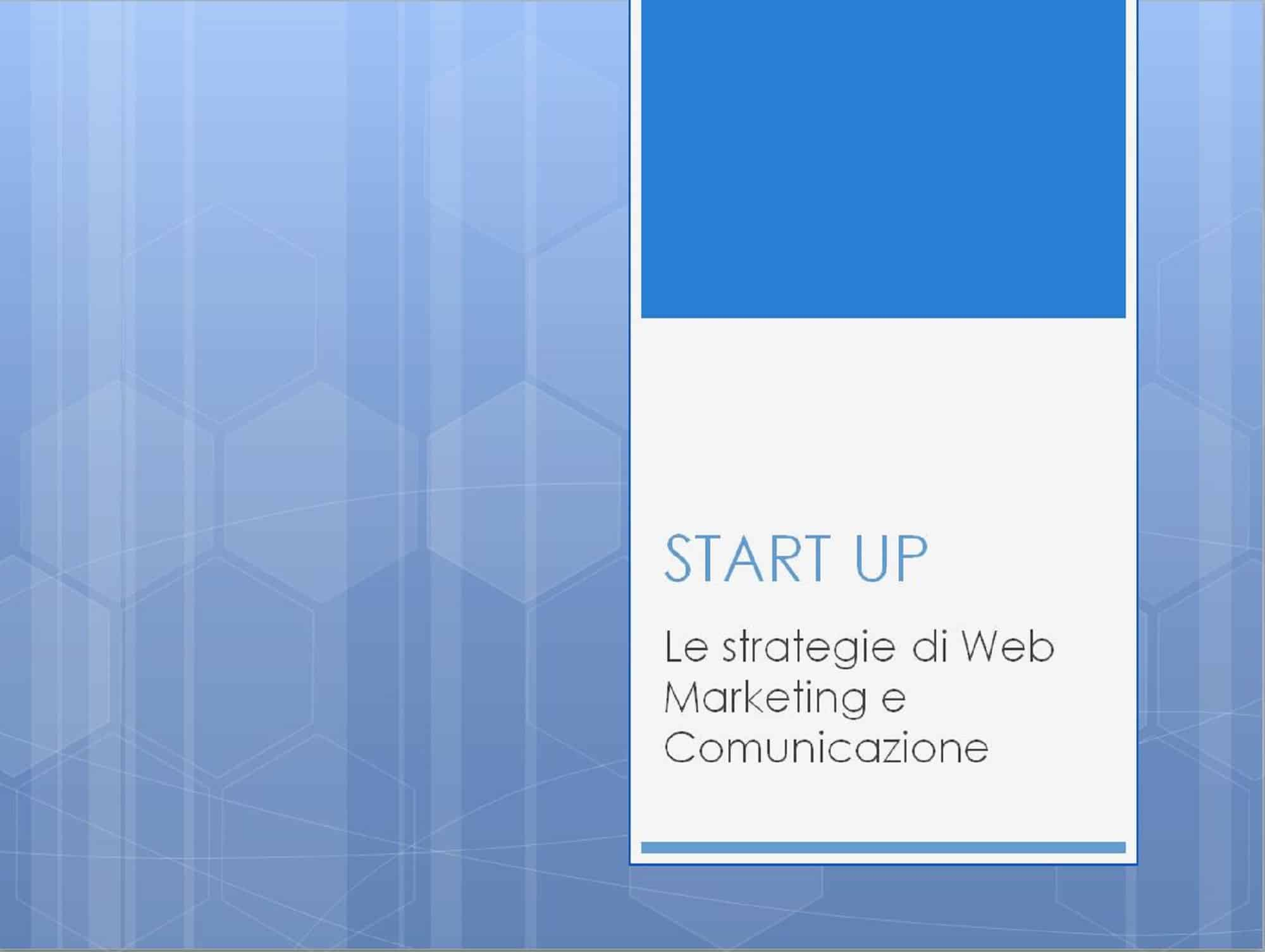 Start-up a scuola di Web Marketing